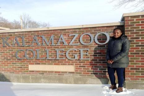 Jayne Nthiga at Kalamazoo College Michigan Usa.
